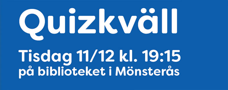 Quizkväll 11 december kl. 19.15